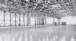 Entrepôt vide dans la couleur blanche illustration libre de droits
