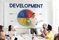 Entreprenör Strategy Target Concept för affärsstart Arkivbilder