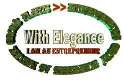 Entreprenörer växer affärer, som naturen växer växten royaltyfri illustrationer