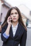 Entreprenörkvinna kalla royaltyfria foton