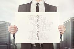 Entreprenadiseringkorsordbegrepp på papper arkivfoto