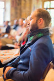 Entrepreneur in audience at business conference. Stock Photos