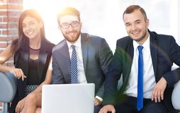 Entrepreneur and business team ,sitting on the sofa in the offic Royalty Free Stock Photo