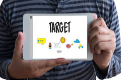 Entrepreneur Business Venture Target To Goals Expansion  Marketi. Ng Concept Royalty Free Stock Images