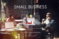 Entrepreneur Conc de propriété de produits de marché de niches de petite entreprise photographie stock libre de droits