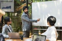 Entrepreneur Concept de compagnie de communication d'affaires Images libres de droits