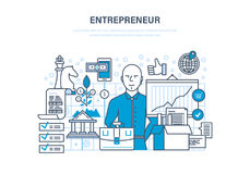 Entrepreneur concept.. Entrepreneur concept. Start-up projects, investment, innovation, business ideas, marketing strategy, leadership, success and growth of Stock Photos