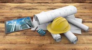 Entrepreneur de bâtiment illustration stock