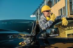 Entrepreneur de chantier de construction photo libre de droits