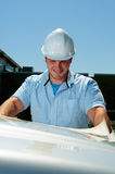 Entrepreneur de construction Photos stock