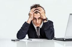 Entrepreneur dissatisfied with his earnings Royalty Free Stock Images
