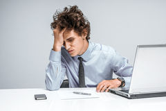 Entrepreneur dissatisfied with his earnings Stock Photography