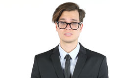 Entrepreneur dissatisfied with his earnings, profit, income, margin Stock Photos
