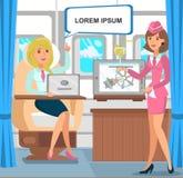 Entrepreneur féminin Business Trip Illustration illustration libre de droits