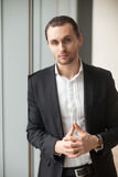 Entrepreneur feeling confidence in his leadership Royalty Free Stock Image