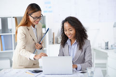 Entrepreneur and her assistant Stock Photos
