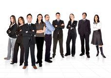 Entrepreneur and his business team Stock Photo
