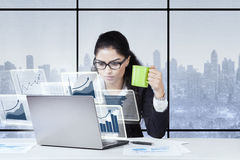 Entrepreneur holding mug in the office Royalty Free Stock Image