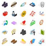 Entrepreneur icons set, isometric style. Entrepreneur icons set. Isometric set of 25 entrepreneur vector icons for web isolated on white background Royalty Free Stock Image