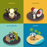 Entrepreneur Isometric Design Concept illustration libre de droits