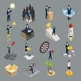 Entrepreneur Isometric Icons illustration de vecteur