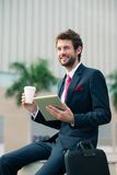 Entrepreneur joyeux Photos libres de droits