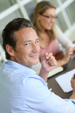 Entrepreneur meeting financial adviser Royalty Free Stock Photography