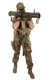 Entrepreneur militaire privé avec le lance-roquettes de RPG photos libres de droits