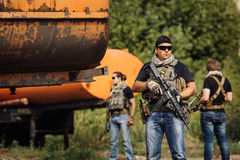 Entrepreneur militaire privé pendant l'opération spéciale photo stock