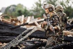 Entrepreneur militaire privé pendant l'opération spéciale images stock