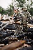 Entrepreneur militaire privé pendant l'opération spéciale photos stock