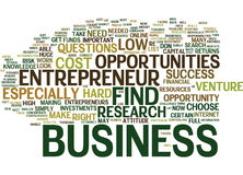 Entrepreneur Opportunities Text Background  Word Cloud Concept Royalty Free Stock Photography