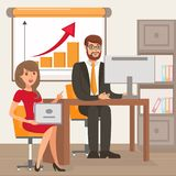 Entrepreneur and Personal Assistant Illustration royalty free illustration