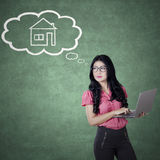 Entrepreneur plans have a new house Royalty Free Stock Image