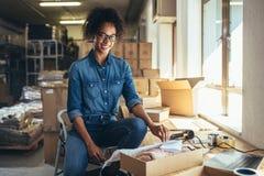 Entrepreneur réussi de PME photo libre de droits