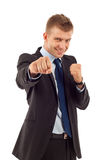 Entrepreneur ready for fight Royalty Free Stock Images