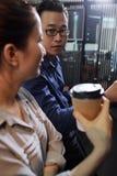 Entrepreneur regardant le collègue photo libre de droits