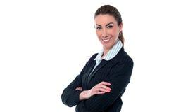 Entrepreneur sûr de sourire Image libre de droits