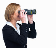Entrepreneur searching for business opportunities Stock Photos