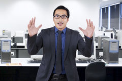 Entrepreneur with shocked expression face Stock Photography
