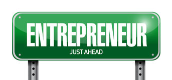 Entrepreneur sign illustration design Stock Photography