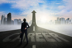 Entrepreneur standing on the career way Stock Photography