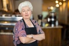 Entrepreneur supérieur en café Images stock