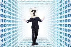 Entrepreneur walking inside internet network Stock Photos