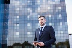 Entrepreneur working in city Stock Photos