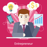 Entrepreneur Working on Freelance Project Royalty Free Stock Photo