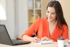 Entrepreneur working taking notes Stock Photography