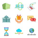 Entrepreneurial activity icons set, cartoon style. Entrepreneurial activity icons set. Cartoon set of 9 entrepreneurial activity vector icons for web isolated on Stock Photography