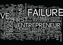 Entrepreneurial Failure Get Used To It Text Background Word Cloud Concept vector illustration