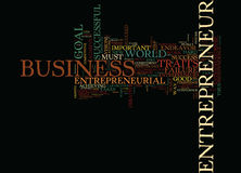 Entrepreneurial Traits Word Cloud Concept. Entrepreneurial Traits Text Background Word Cloud Concept Royalty Free Stock Photo